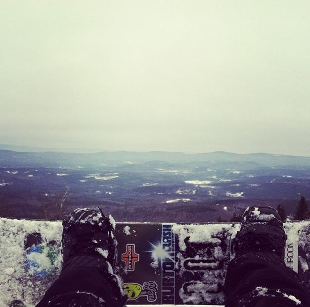 At the top of Mount Sunapee.