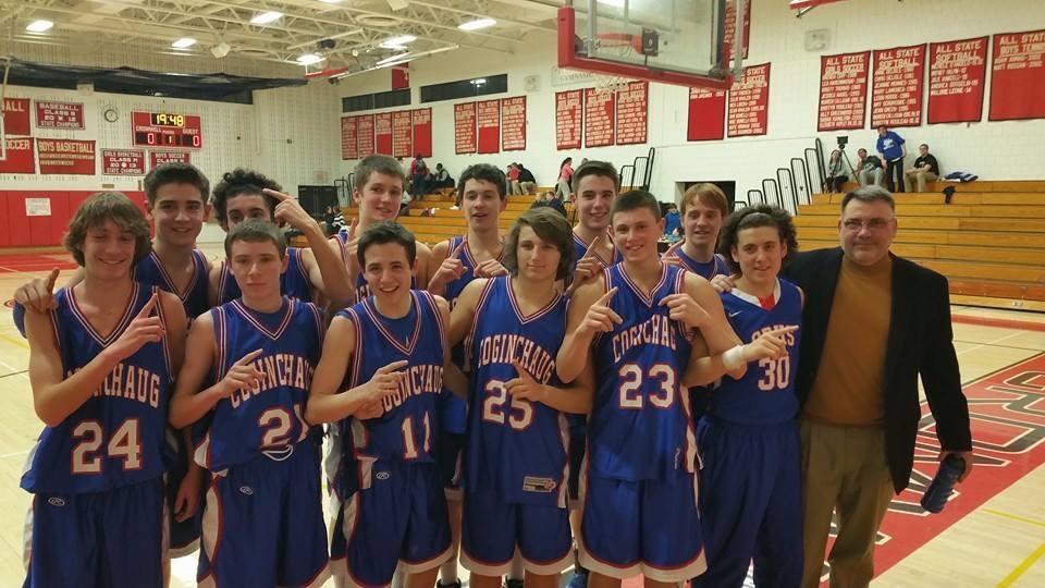 The JV Undefeated Boys Basketball Team