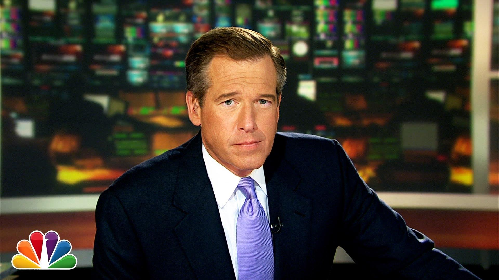 Brian Williams on the set of NBC's Nightly News before he was removed on Feb. 10th.