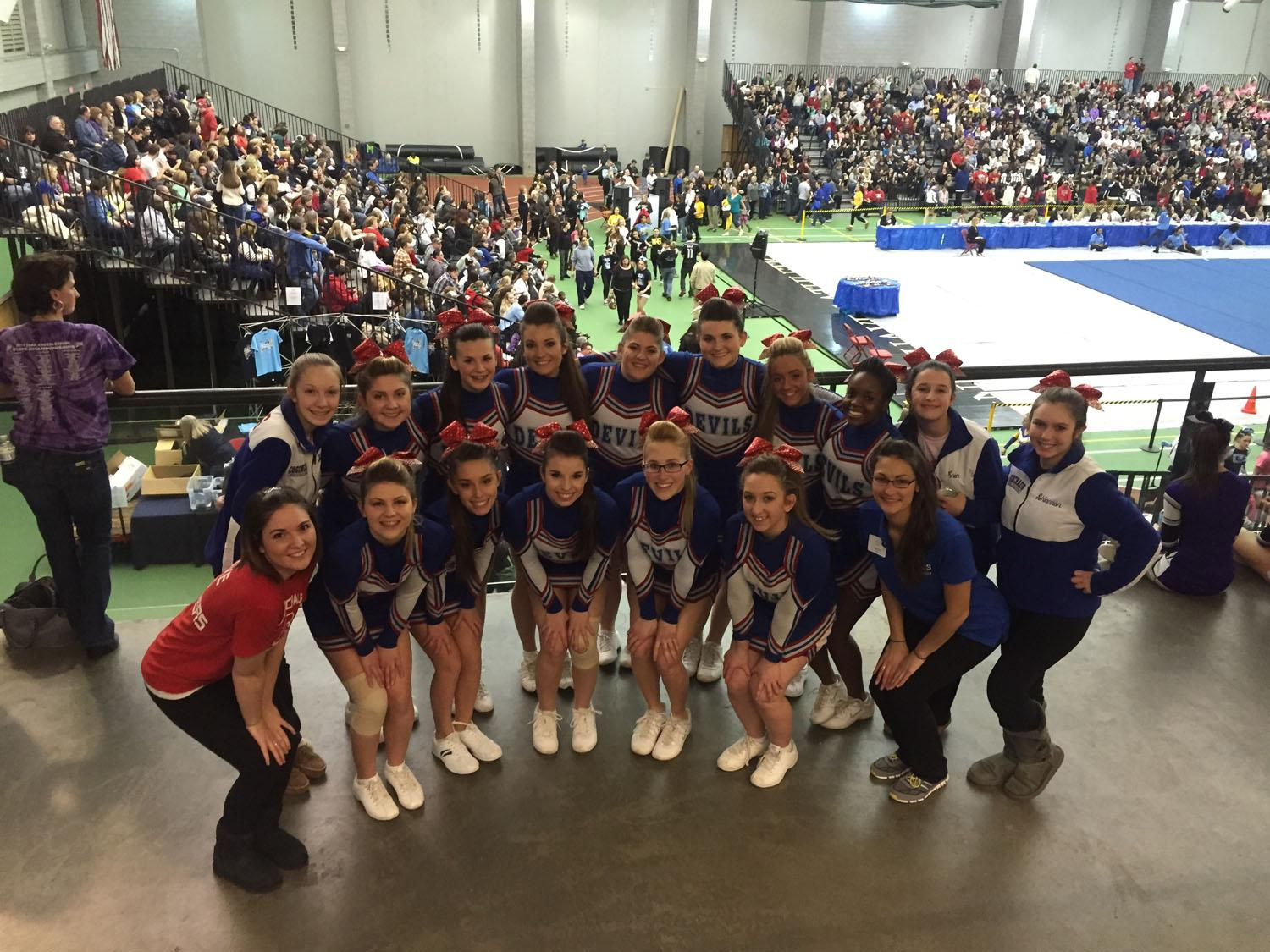 CRHS Cheers Way to Top Ten at States