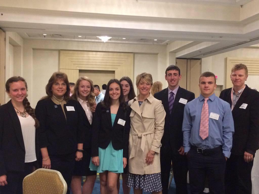 DECA Members Hear UConn President Speak at Annual Chamber Breakfast