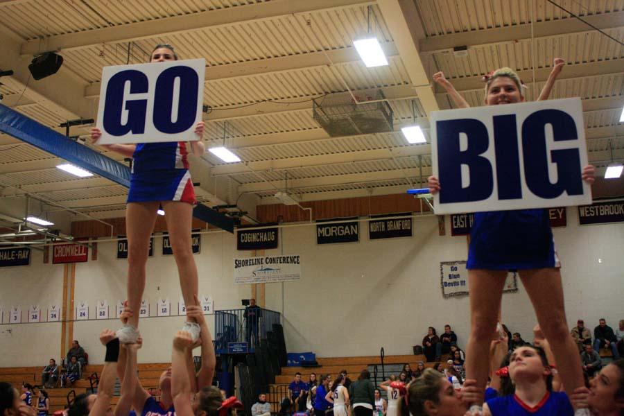 187 Cheerleaders Show Spirit For Girls Bball Victory Vs