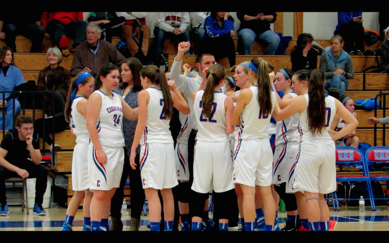 Coginchaug Girls Basketball Dribbles Down the Court