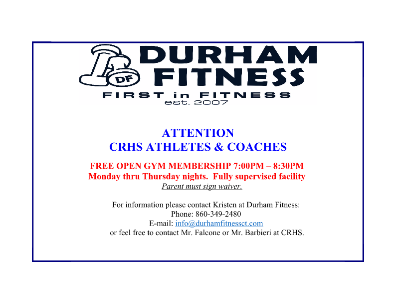 Hit The Free Open Gym at Durham Fitness