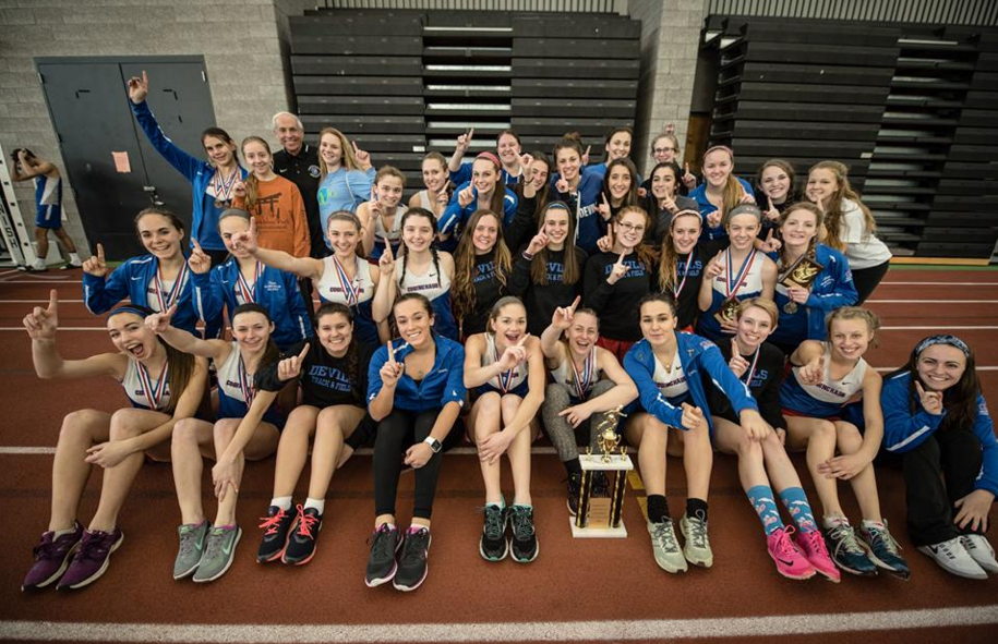 Girls Indoor Track Conquers Shoreline Championships
