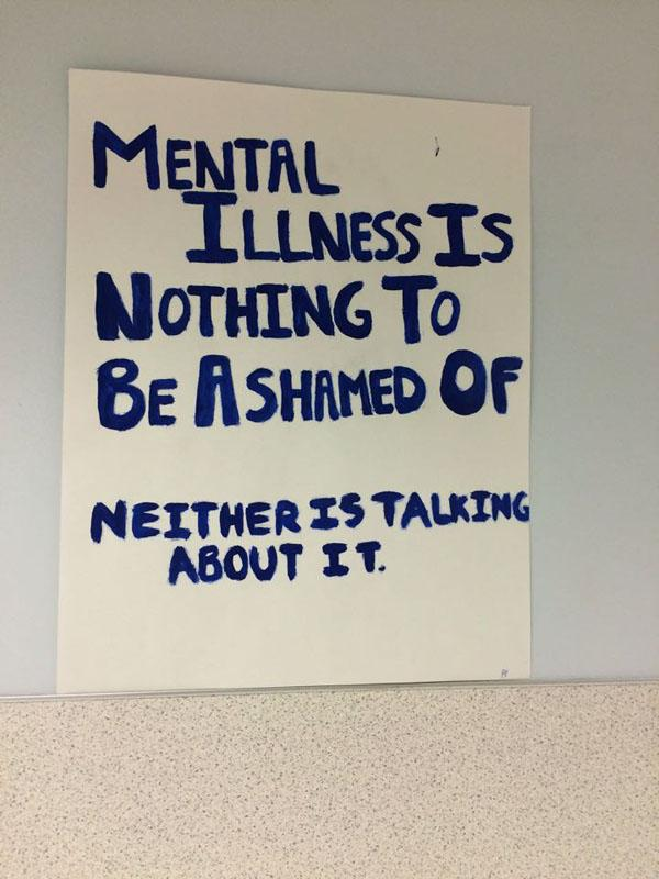 "I Am Resilient put up posters encouraging staff and students to ""Stop the stigma"""