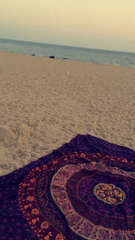 Tapestry on beach
