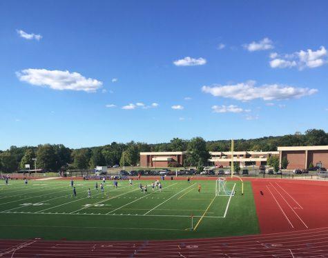 Boys soccer takes the field against East Hampton.