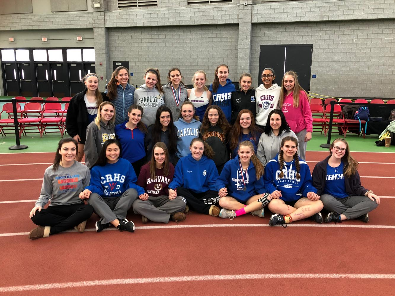 Girls Indoor Track Athletes Compete at State Opens