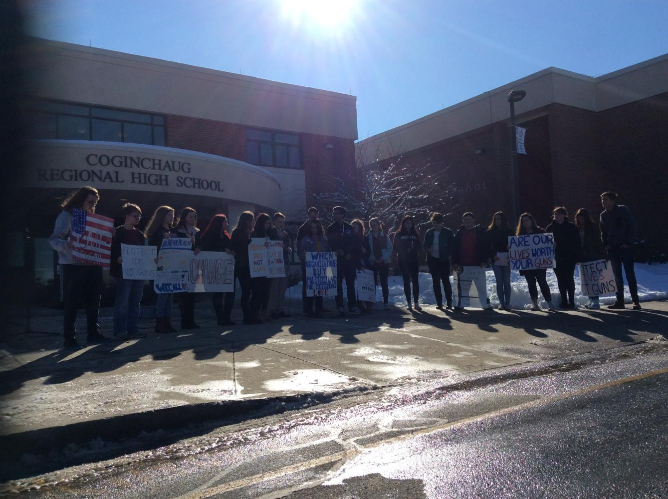 Coginchaug Students Participate in National School Walkout – March 14, 2018