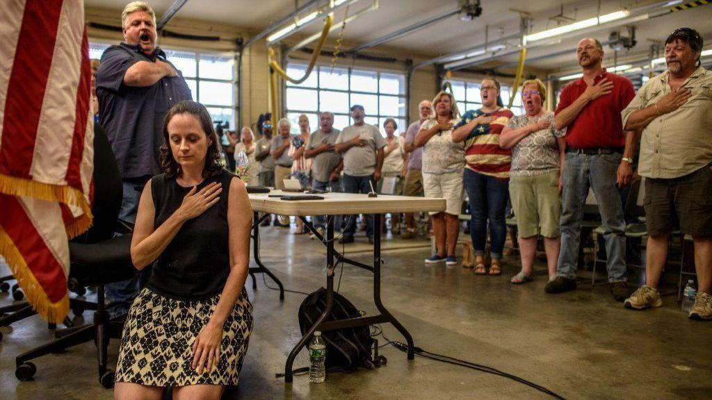 Haddam Selectwoman Stirs Up Controversy By Kneeling for Pledge