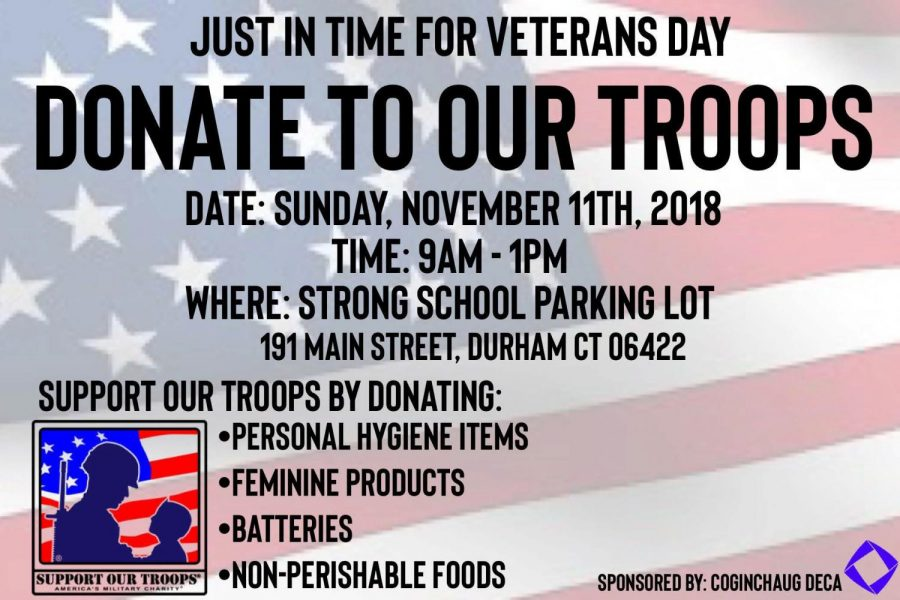 Items Needed for Veterans Day Community Drive