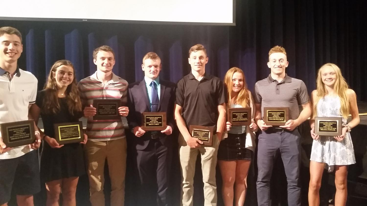 MVP Award Athletes from the Spring Sports Banquet