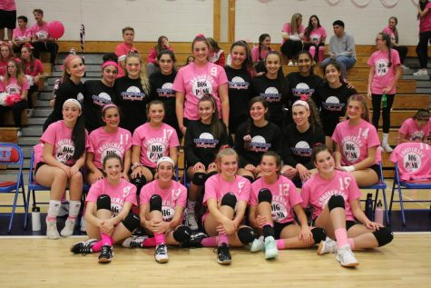 Volleyball Appreciates Military, Honors Vets at NB Game