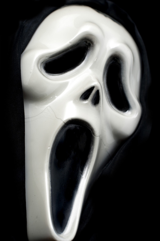 a spookly looking halloween ghost mask
