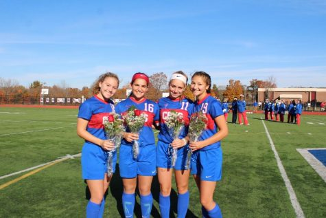 CRHS Girls Soccer Dominates on Senior Night