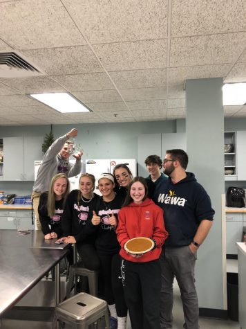 Members of the Blue Devils Cafe Spent the Day Making Pies