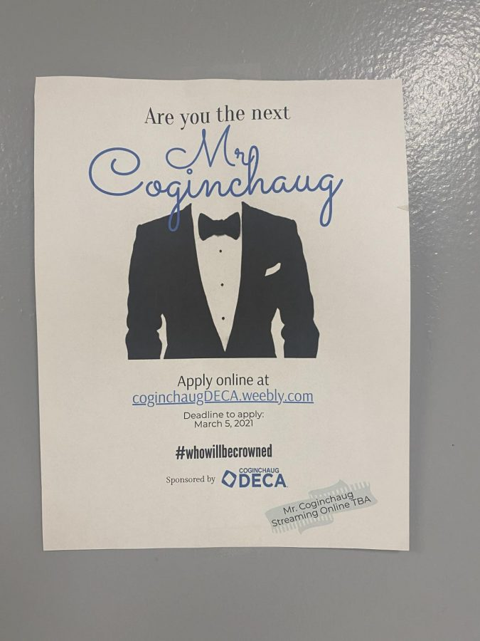 A+poster+for+DECA%27s+upcoming+%22Mr.+Coginchaug+competition.%22